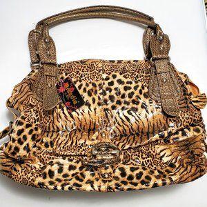 NWT Leopard Print Large Shoulder Bag